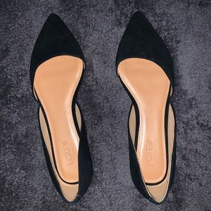 BRAND NEW J Crew Black Suede Pointed Flats